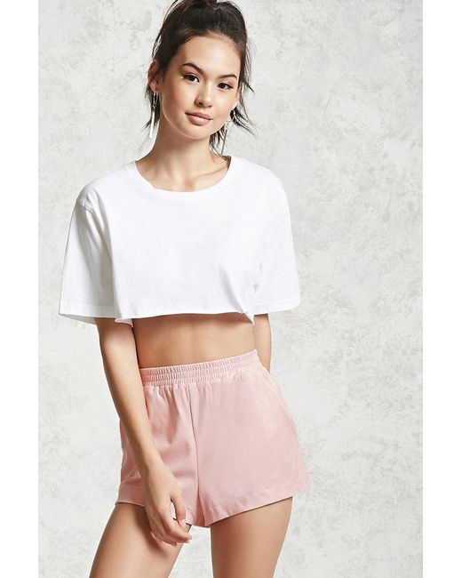 Forever 21 | Pink Faux Suede Shorts | Lyst