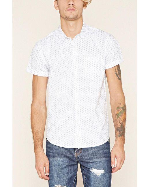 Forever 21   White Paisley Print Shirt for Men   Lyst
