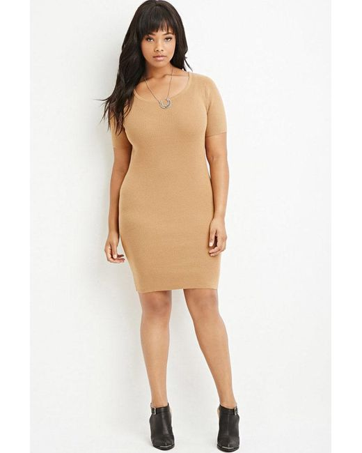 Forever 21   Natural Ribbed Sweater Dress   Lyst