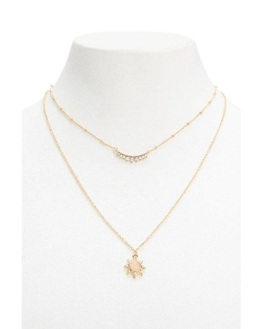 FOREVER21 - Metallic Layered Pendant Necklace - Lyst