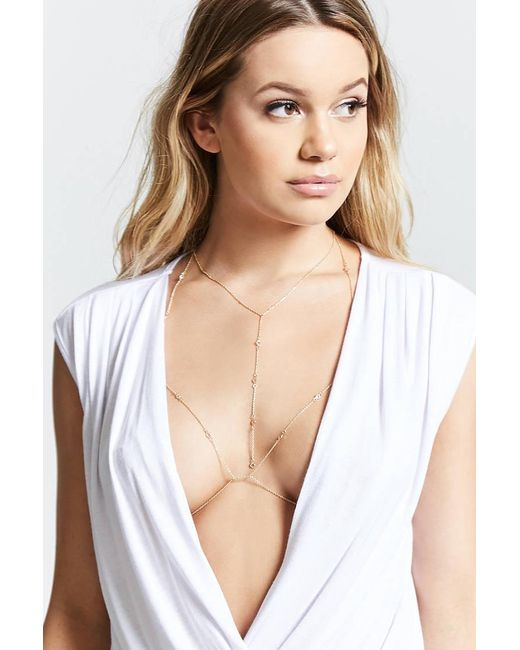 Forever 21 | Metallic Bodychain & Necklace Set | Lyst