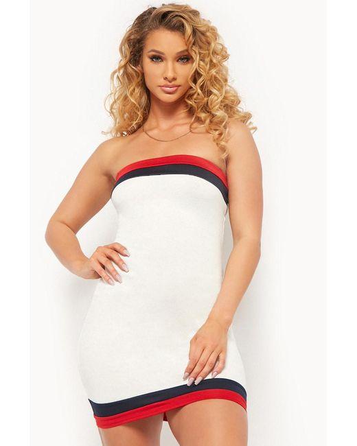 Forever 21 - Multicolor Colorblock Trim Bodycon Tube Dress - Lyst
