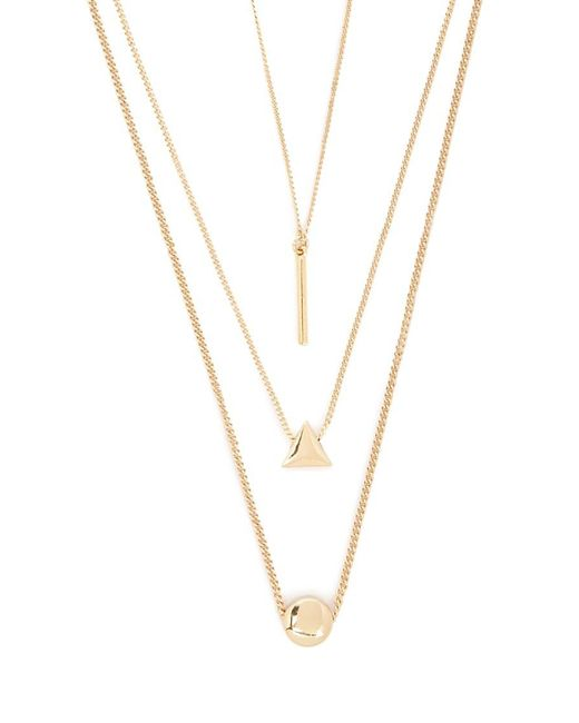 Forever 21 - Metallic Geo Pendant Necklace Set - Lyst