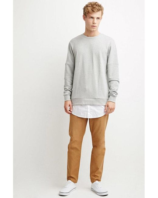 Forever 21 - Natural Drawstring Canvas Pants for Men - Lyst