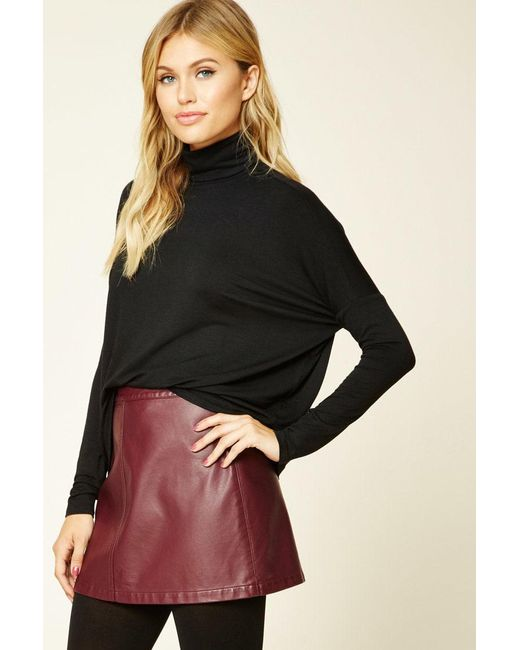 Forever 21   Black Contemporary Boxy Turtleneck   Lyst