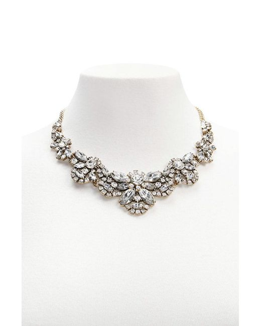 Forever 21 | Metallic Diamante Bib Necklace | Lyst