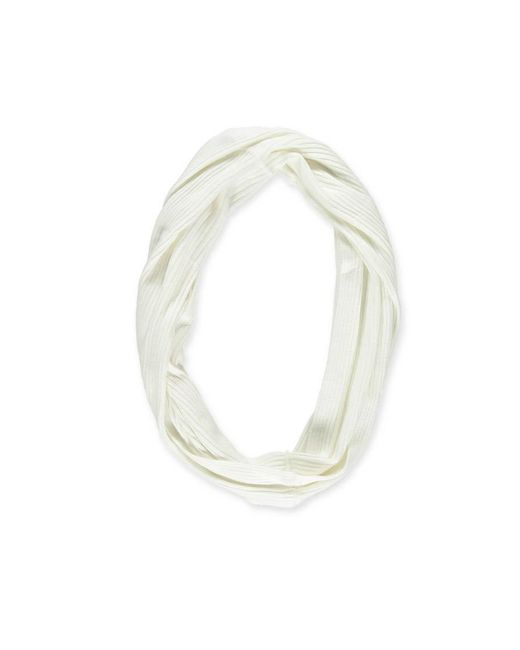Forever 21 - White Ribbed Infinity Scarf - Lyst