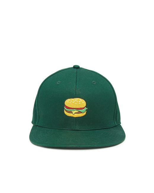 Forever 21   Green Men Burger Snapback Hat for Men   Lyst