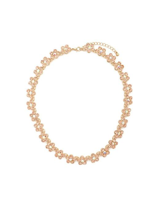 Forever 21 | Metallic Faux Gem Floral Necklace | Lyst