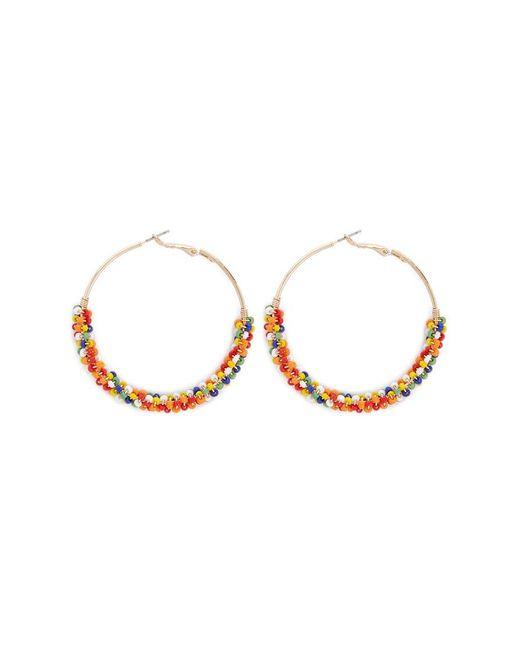 Forever 21 - Metallic Beaded Hoop Earrings - Lyst