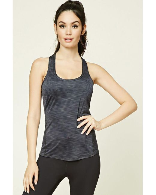 Forever 21 | Blue Active Racerback Tank | Lyst