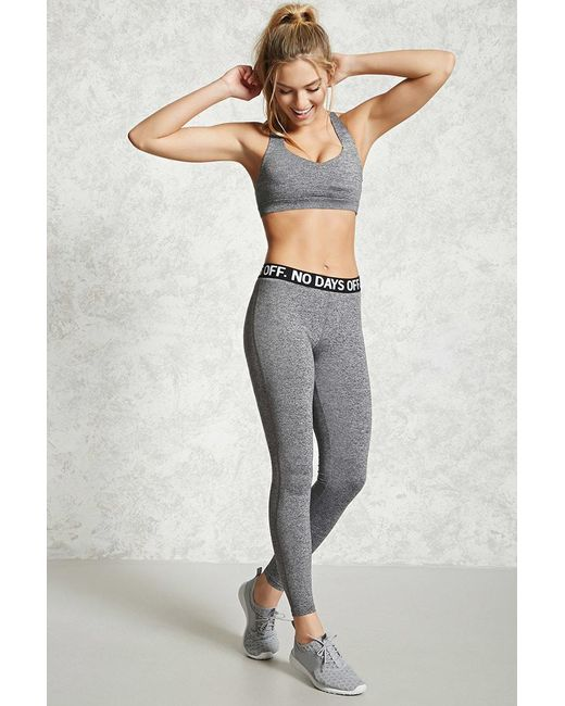 Forever 21 | Gray Active No Days Off Leggings | Lyst