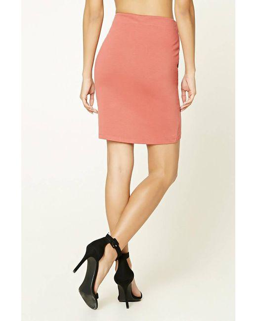 ... Forever 21 - Pink Tulip Mini Skirt - Lyst ...