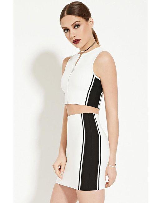 Forever 21 | White Colorblocked Bodycon Skirt | Lyst