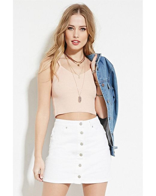 Forever 21   Pink Cami Crop Top   Lyst