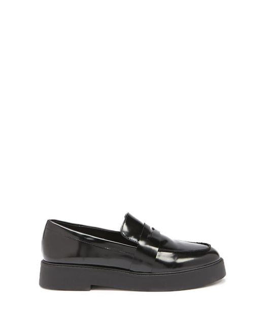 Forever 21 - Black Women's Faux Leather Penny Loafers - Lyst