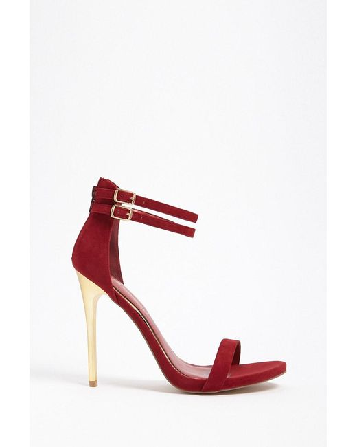 FOREVER21 - Red Shoe Republic Faux Suede Stiletto Heels - Lyst