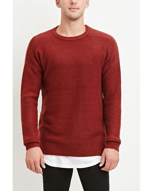 Forever 21 | Red Dropped-sleeve Sweater for Men | Lyst