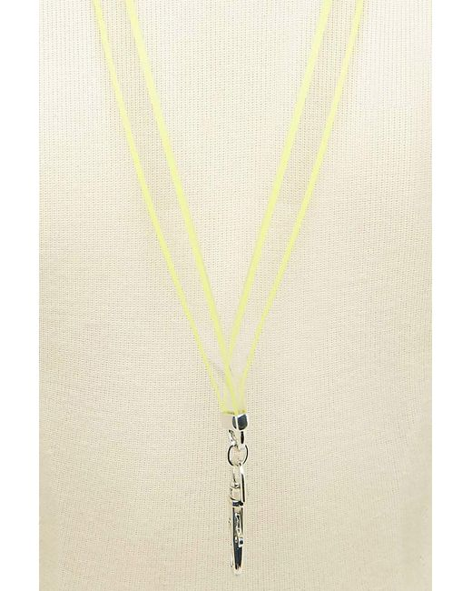 Forever 21 - Metallic Lucite Neon Lanyard Necklace - Lyst