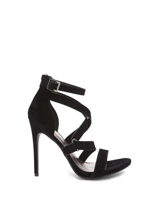 f2488c44b9 Forever 21 - Black Shoe Republic Faux Suede Strappy Heels - Lyst ...