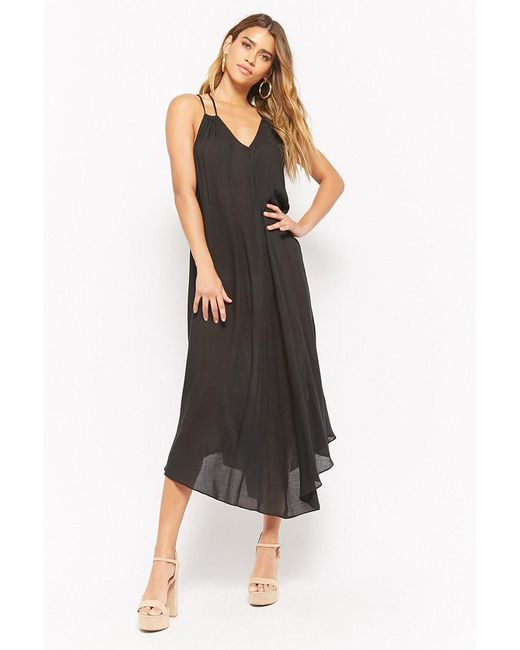 Forever 21 - Black Strappy Maxi Dress - Lyst