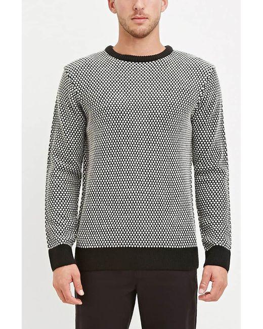 Forever 21 | Gray Popcorn Knit Sweater for Men | Lyst