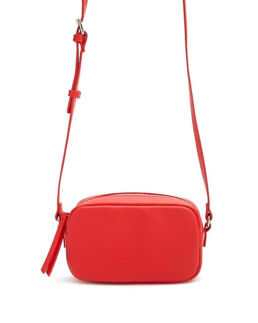 Forever 21 Faux Leather Mini Crossbody Bag , Red