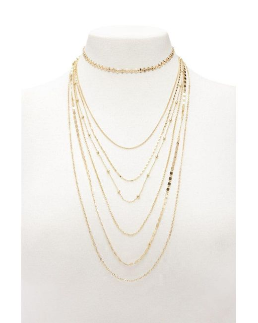 Forever 21 - Metallic Layered Necklace Set - Lyst