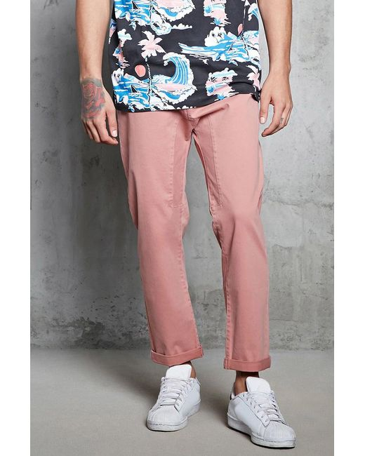 Forever 21 - Purple Twill Woven Joggers for Men - Lyst