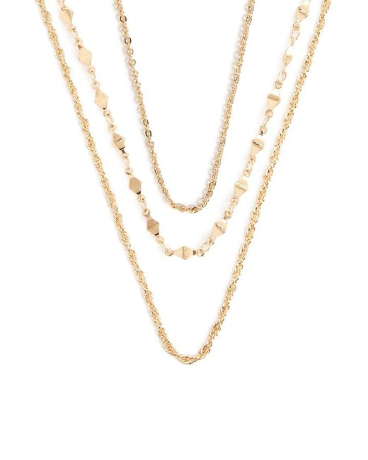 Forever 21 - Metallic Chain Necklace Set - Lyst