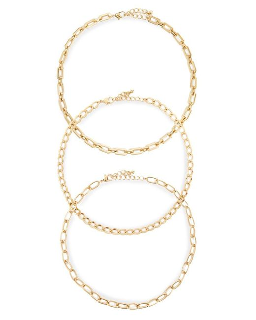 Forever 21 Metallic Chain Necklace Set