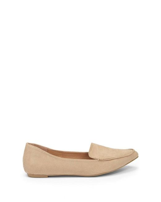 Forever 21 - Natural Faux Suede Loafers - Lyst