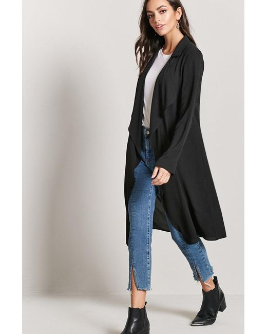 Forever 21 - Black Women's Contemporary Drape-front Jacket - Lyst