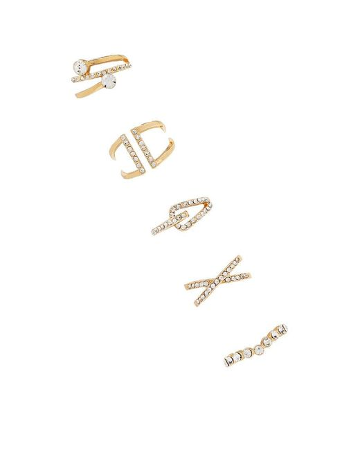 Forever 21 - Metallic Assorted Rhinestone Ring Set - Lyst
