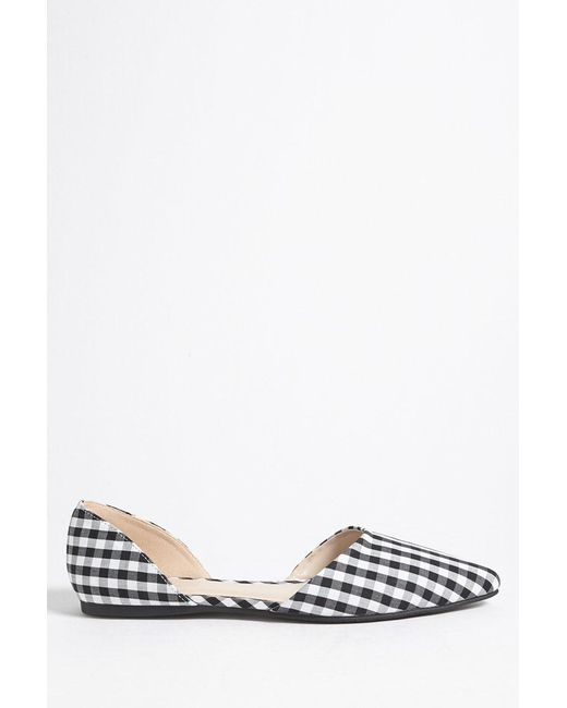 Forever 21 - Black Gingham Pointed Toe Flats - Lyst