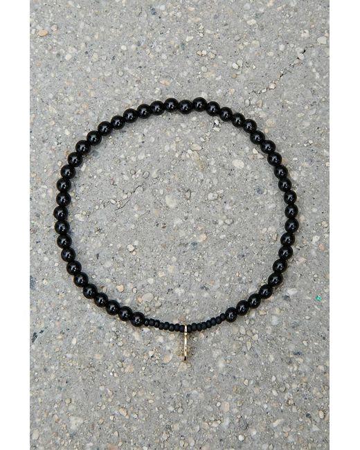 Forever 21 | Black Bead Relief Onyx Bracelet | Lyst
