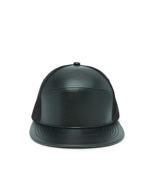Forever 21 | Black Men Faux Leather Panel Hat for Men | Lyst