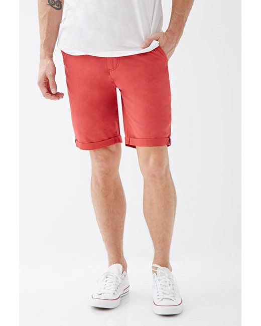 Forever 21 | Red Cuffed Chino Shorts for Men | Lyst