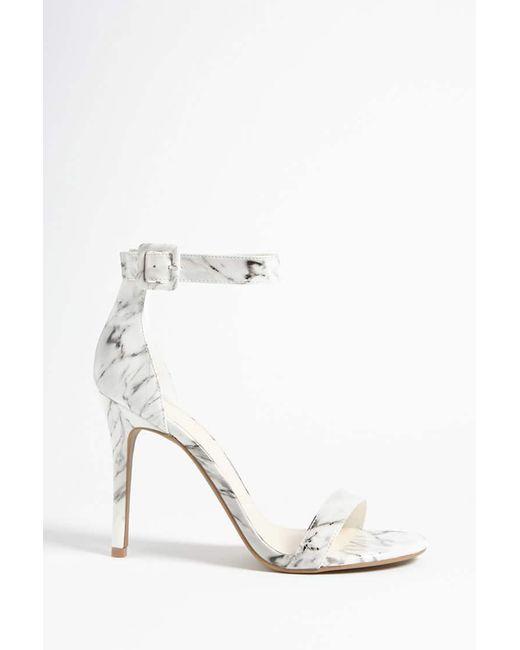 Forever 21 - White Marble Print Stiletto Heels - Lyst