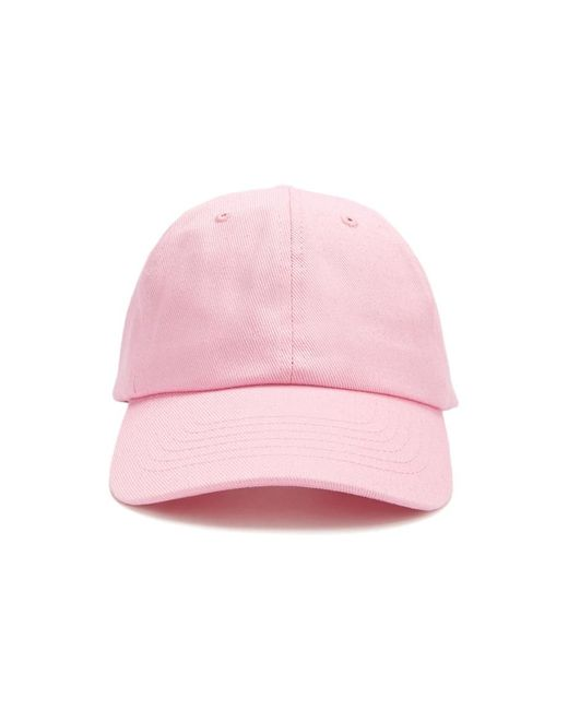 7100e4739a0 Forever 21 - Pink Canvas Dad Cap - Lyst ...