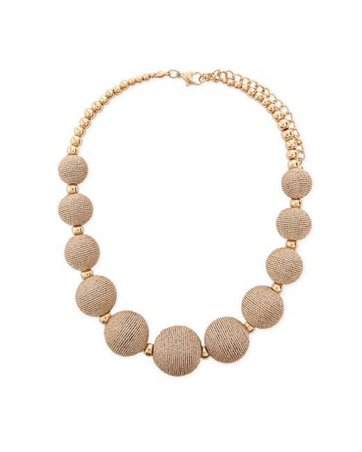 Forever 21 - Metallic Beaded Statement Necklace - Lyst
