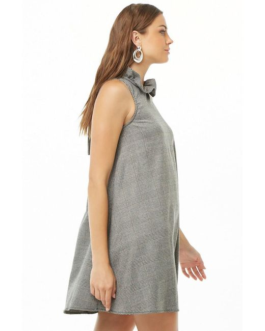 2ba47d5f97f ... Forever 21 - Gray Glen Plaid Trapeze Dress - Lyst