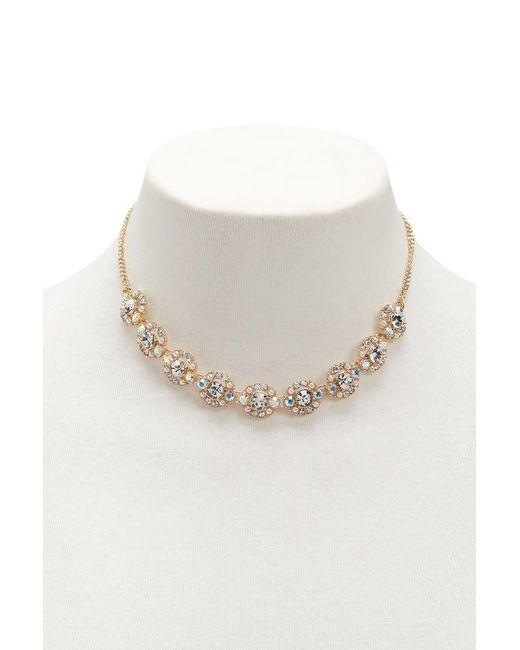 Forever 21 - Metallic Rhinestone Statement Necklace - Lyst