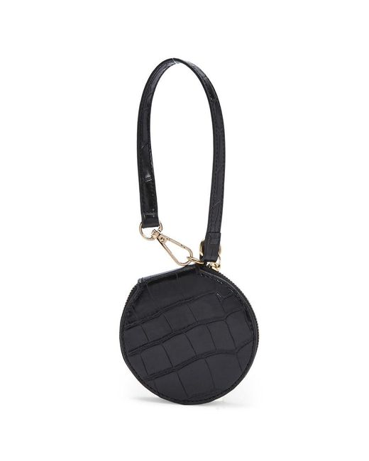 Forever 21 - Black Faux Croc Coin Purse - Lyst