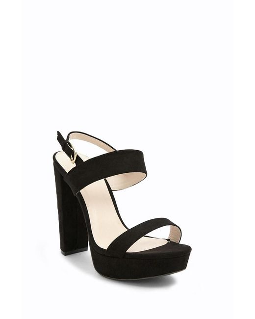 61733a5cefc ... Forever 21 - Black Qupid Faux Suede Platform Heels - Lyst