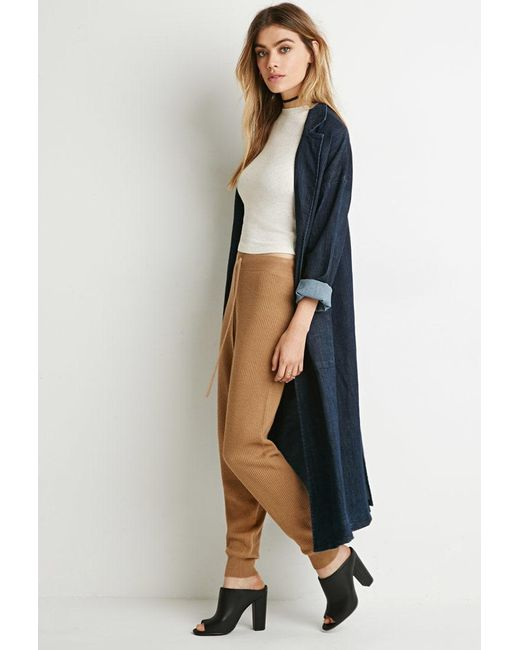 Forever 21   Natural Ribbed Knit Pants   Lyst