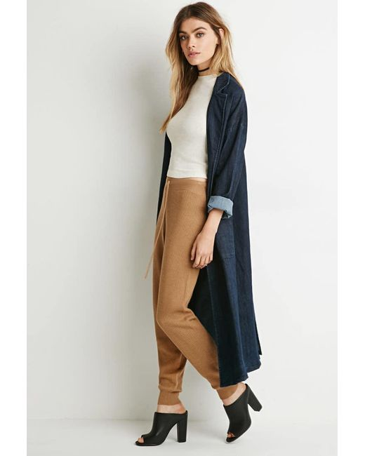 Forever 21 | Natural Ribbed Knit Pants | Lyst