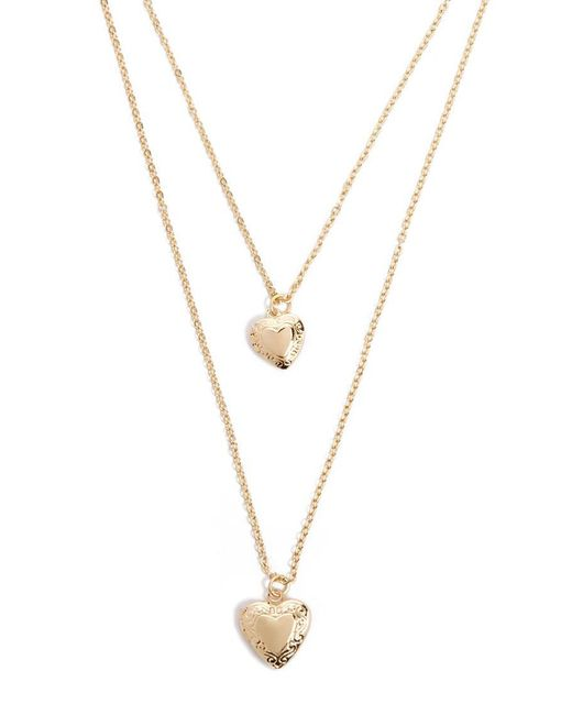 Forever 21 - Metallic Layered Heart Locket Necklace - Lyst