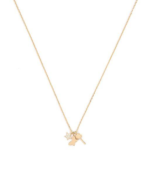 Forever 21 - Metallic Rhinestone Charm Necklace - Lyst