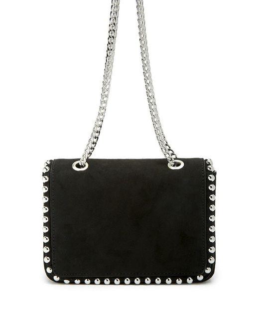 Forever 21 Faux Suede Studded Shoulder Bag , Black